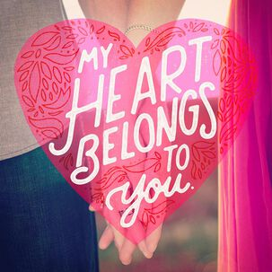 My Heart Belongs to You Musical Valentine's Day Card