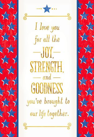 I Love You Veterans Day Card