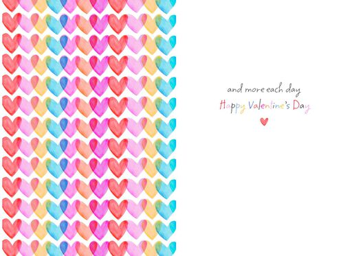 Love You More and More Valentine's Day Card,