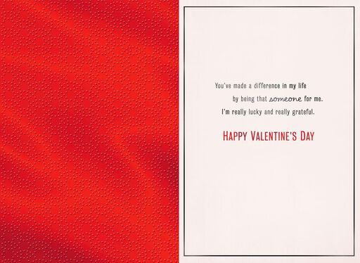 Lucky and Grateful Valentine's Day Card,