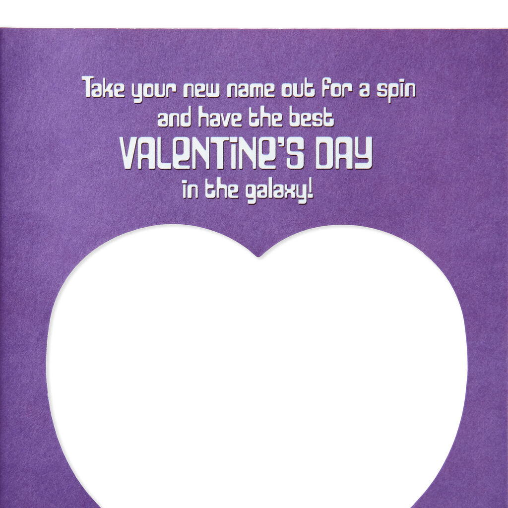 Star Wars™ Name Generator Valentine's Day Card With Game Spinner