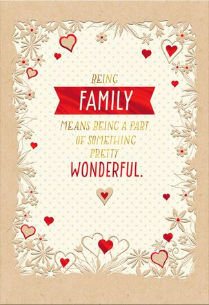 My Wonderful Family Sweetest Day Card