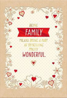 My Wonderful Family Sweetest Day Card,