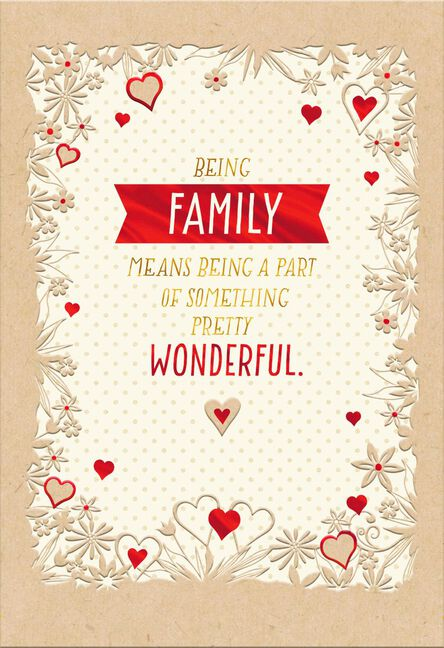 My wonderful family sweetest day card greeting cards hallmark my wonderful family sweetest day card m4hsunfo