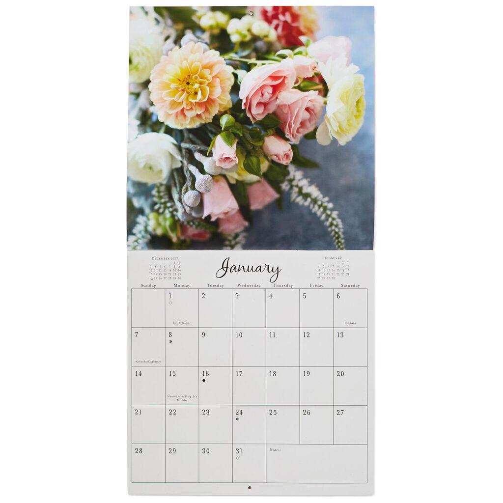 Flower Bouquets 2018 Wall Calendar, 12-Month - Calendars - Hallmark