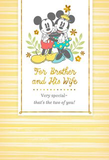 Mickey & Minnie Easter Card for Brother and Wife,