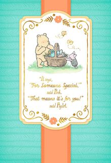 Winnie the Pooh and Piglet Easter Card,