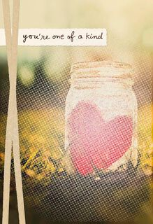 Heart in Mason Jar Romantic Sweetest Day Card,
