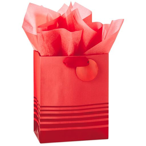 2c3c26ef50da Red Foil Stripes Medium Gift Bag With Tag and Tissue