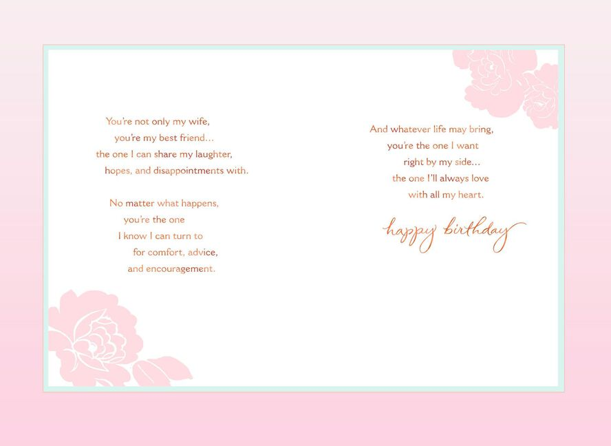 My Love My Best Friend Birthday Card For Wife Greeting Cards