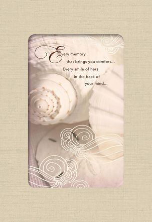 Seashells and Memories of Her Sympathy Card