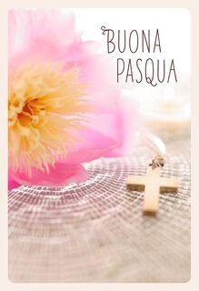 Molte Benedizioni Italian-Language Easter Card,