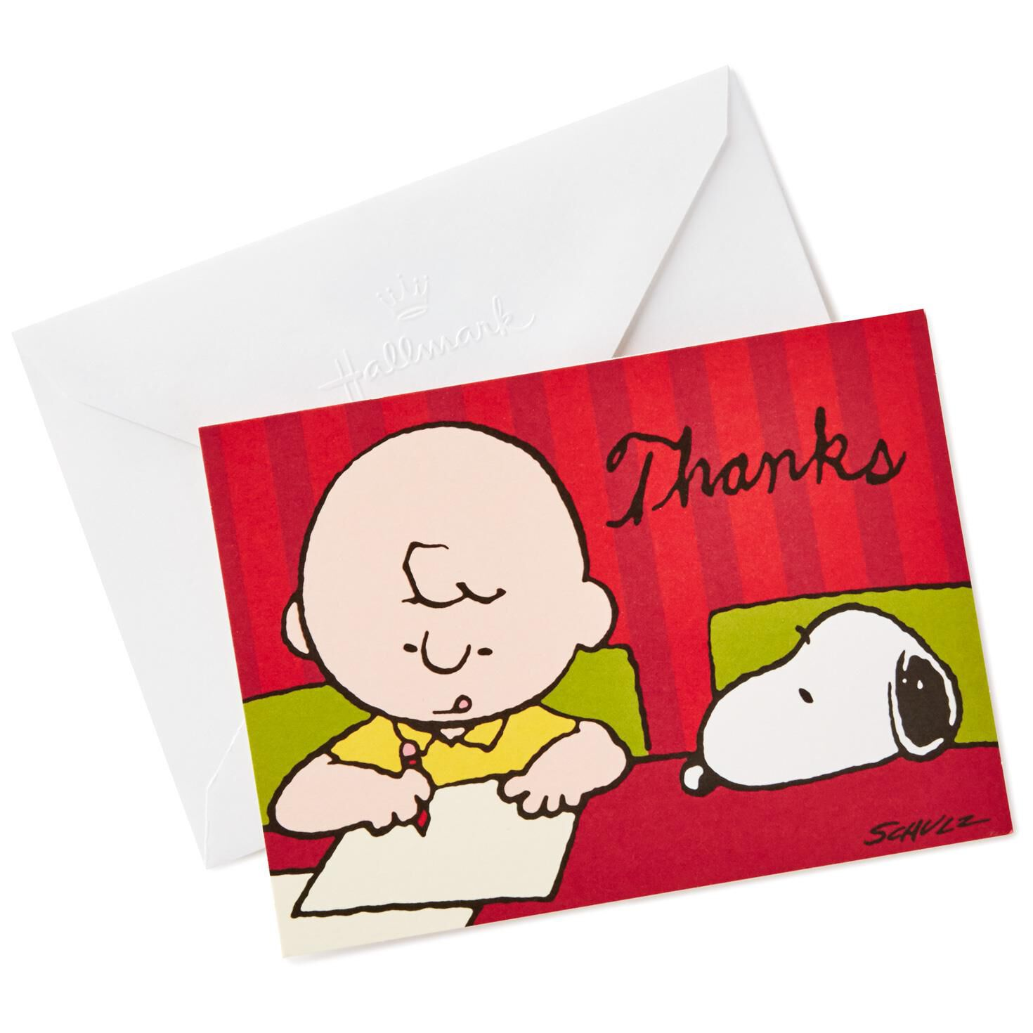 Peanuts charlie brown and snoopy blank thank you notes pack of peanuts charlie brown and snoopy blank thank you notes pack of 10 note cards hallmark kristyandbryce Image collections