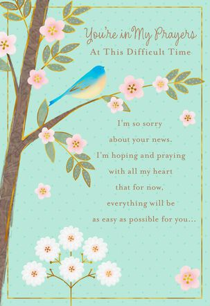 Bird in Tree and Flowers Encouragement Card