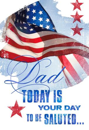 We Salute You Veterans Day Card for Dad