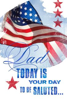 We Salute You Veterans Day Card for Dad,