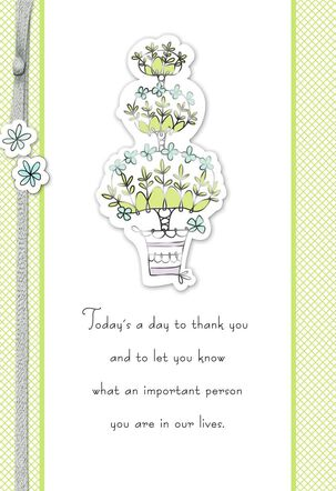 Thankful for Your Care and Support Mother's Day Card