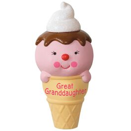 Ice Cream Cone Great Granddaughter Ornament, , large
