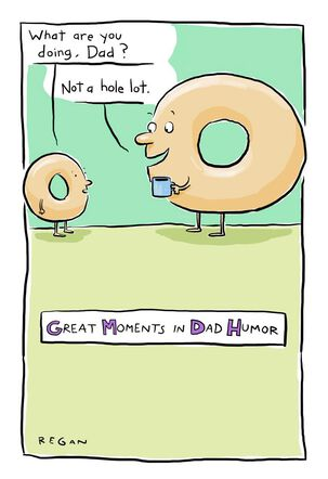 Talking Donuts Funny Father's Day Card