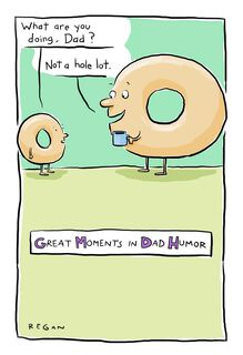 Talking Donuts Funny Father's Day Card,
