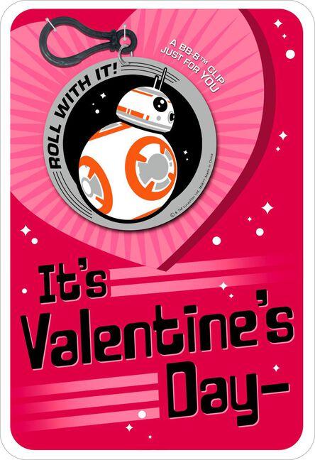 Star wars bb 8 droid jokes valentines day card with backpack clip star wars bb 8 droid jokes valentines day card with backpack m4hsunfo
