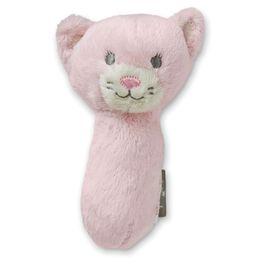 Pink Kitty Stuffed Rattle, , large
