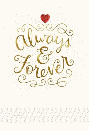 Always and Forever Wife Valentine's Day Card