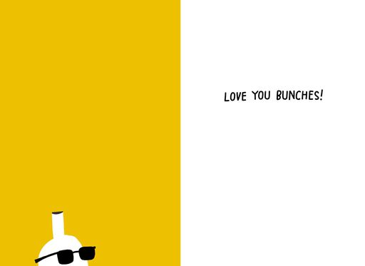 Bananas Love You Bunches Funny Father's Day Card,