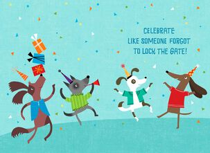Who Let the Dogs Out Birthday Song Card