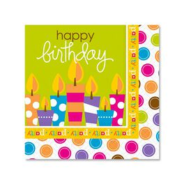 Birthday Surprise Cocktail Napkins, Pack of 12, , large