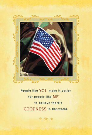People Like You Military Appreciation Card