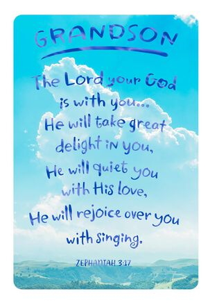 God Celebrates You Confirmation Card for Grandson