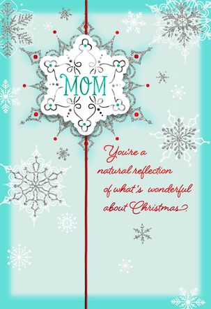 You're What's Wonderful Christmas Card for Mom