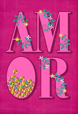Amor Spanish-Language Love Card