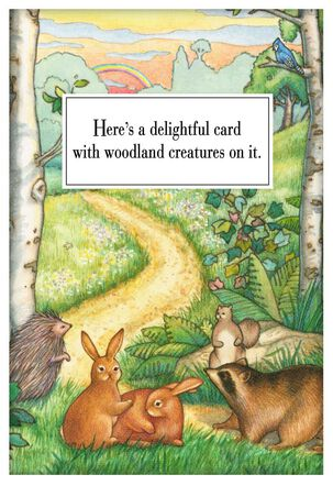 Delightful Woodland Creatures Just Because Card