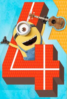 Despicable Me Minions  4th Birthday Sound Card,