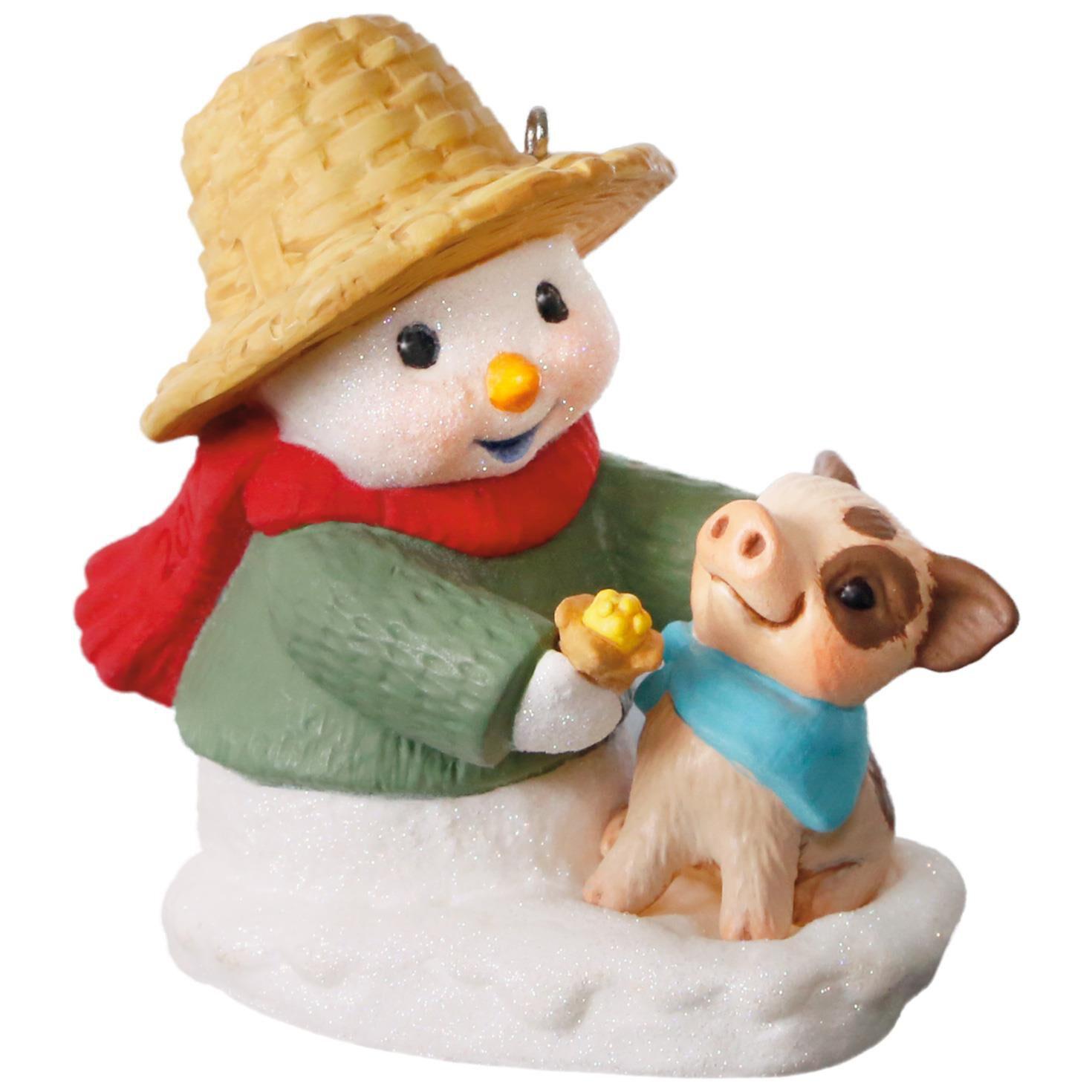 Snow Buddies Snowman and Pig Ornament  Keepsake Ornaments  Hallmark