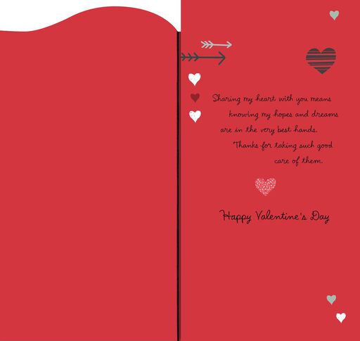 Hearts and Arrows Valentine's Day Card,