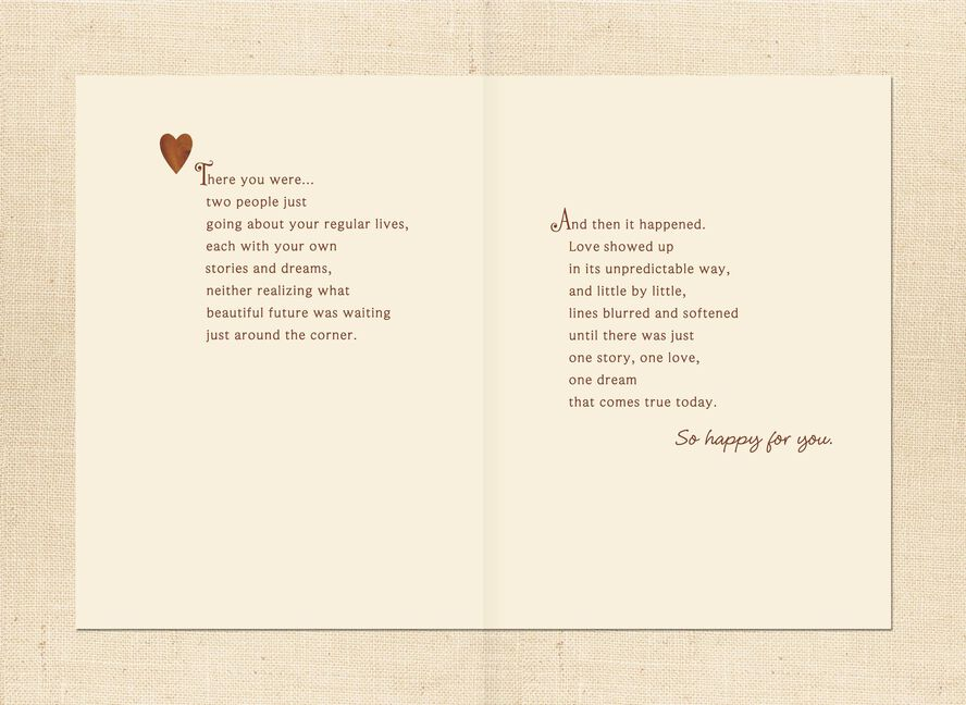 two hearts one love story wedding card greeting cards hallmark