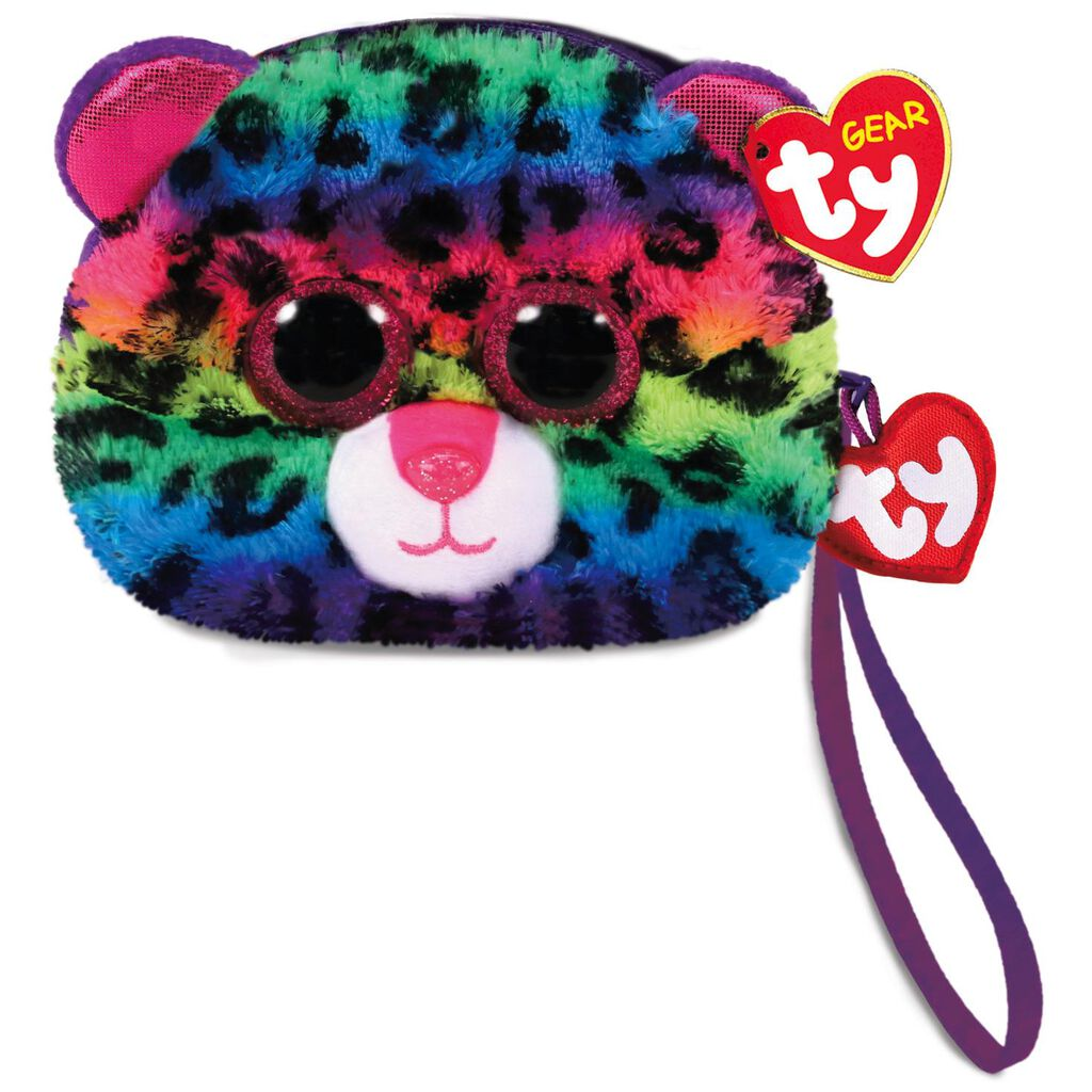 Ty Gear Dotty The Leopard Stuffed Animal Wristlet Plush Toys