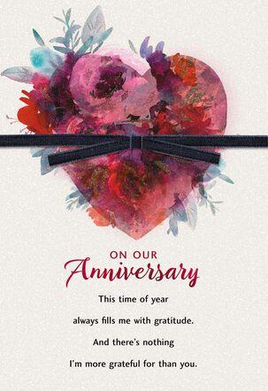 Gratitude and Love Anniversary Valentine's Day Card