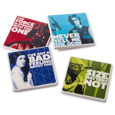 Star Wars Characters Coaster Set Of 4 Kitchen