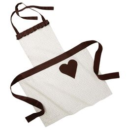Chocolate Heart Pocket Full-Length Apron, , large