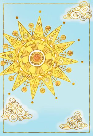 Sun and Clouds Blank Thinking of You Cards, Pack of 10