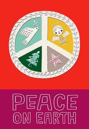 Peace Sign Christmas Card