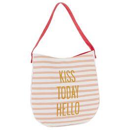 Kiss Today Hello Tote Bag, , large