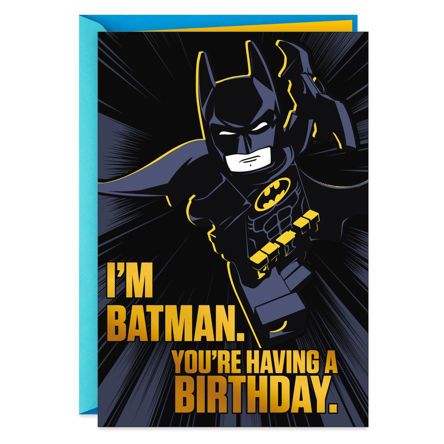image about Batman Printable Birthday Card known as The LEGO® Batman™ Online video Wonderful Birthday Card