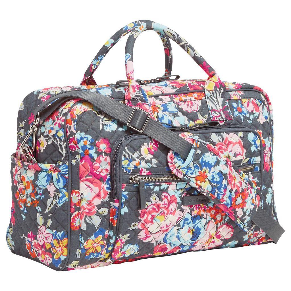 2b489b5ec4e7 Vera Bradley Iconic Compact Travel Bag in Pretty Posies - Travel ...