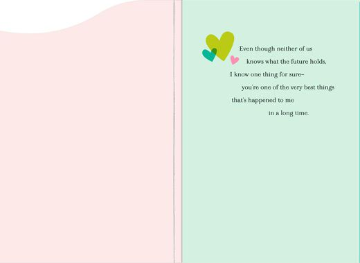 I Catch Myself Smiling New Relationship Love Card
