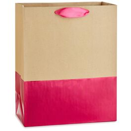 "Dipped Fuchsia Large Gift Bag, 13"", , large"